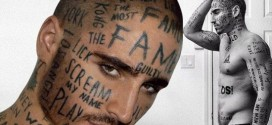 Male Model with 24 Words Tattooed on His Face Says He Wants to 'Make an Impact'