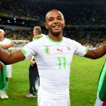 Yacine Brahimi Celebrates Algeria's First-Ever Passage to the Knockout Stage of the Fifa World Cup in Curitiba, Brazil. Image: Getty Image.