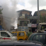 Shopping Complex On Fire