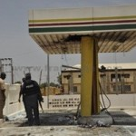 SCENE OF MONDAY'S BOMB EXPLOSION AT NNPC MEGA STATION