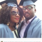 Ini Edo & Desmond Elliot at Open University matriculation ceremony