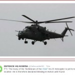 Defence ministry says body of technician who died in Mi-15 crash is missing