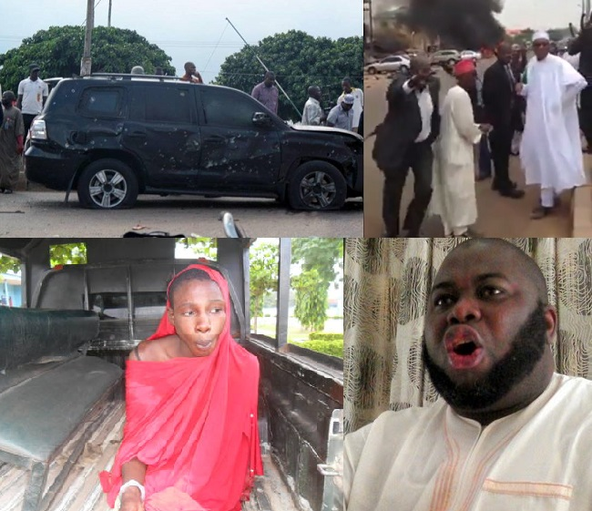 THE SUSPECT, BOTTOM LEFT, WHO ALLEGEDLY FINGERED ASARI DOKUBO AS THE SPONSOR OF THE ATTACK ON GEN. BUHARI'S CONVOY
