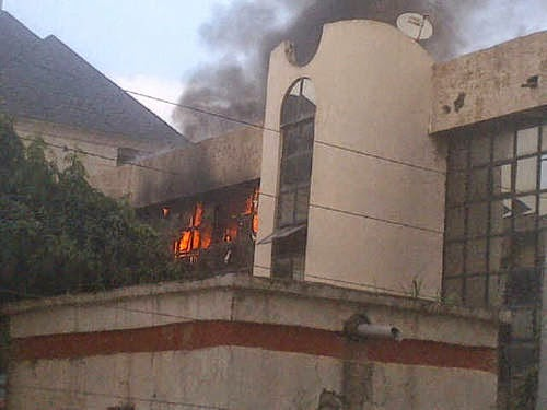 NFF Office in Abuja on Fire.