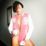 Maheeda Models Ruggedman's Soon To Be Launched Varsity Jacket