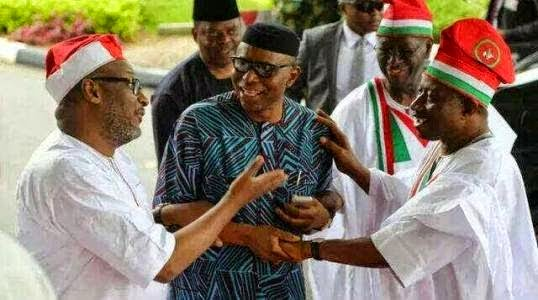 OLUSEGUN MIMIKO WITH SOME PDP STALWARTS RECENTLY