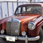 Famous Lagosian Fashion Designer, Mudi Turns Heads With His Classic 1957 Mercedes Benz