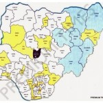 Photo: New map of Nigeria as proposed by delegates of National Confab