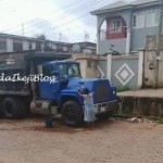 Photos: Child labour – Young girl made to wash truck everyday