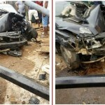 Photos: Accident on college road at Ogba, Ikeja