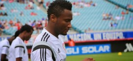 Ebola: Mikel Arrives Eagles Camp With Protective Gloves