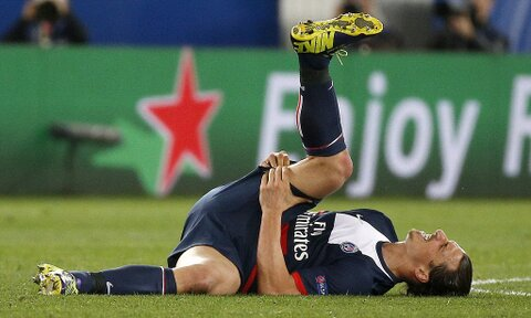 Ibrahimovic Out of PSG Clash With Former Club Barca. Image: Getty.