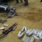 SOME OF THE SEIZED ITEMS ON DISPLAY BY THE POLICE ON THURSDAY...PHOTO CREDIT: THE NATION
