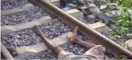 Graphic pics: Man cut into pieces at railway crossing line in Ibadan