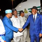 Photos: Pres. Jonathan arrives Israel for pilgrimage in a blue suit