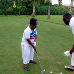 Actor Osita Iheme 'Paw Paw' tries his hands on golfing ['Must See' Photos]