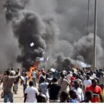 Photos: Burkina Faso Parliament set ablaze after members tried to elongate president's stay in office
