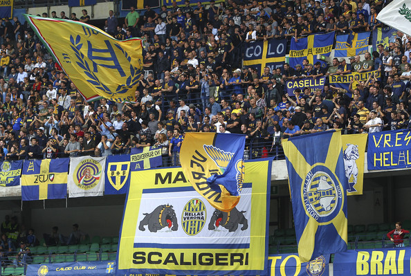 Hellas Verona Get Partial Stadium Closure. Image: Getty.