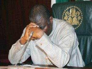 PRESIDENT JONATHAN PRAYS 1