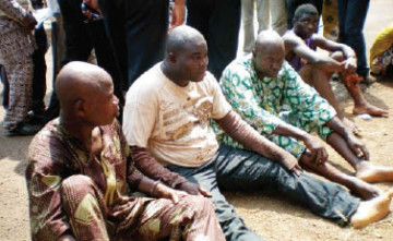 THE SUSPECTS PARADED BY THE POLICE IN ABEOKUTA