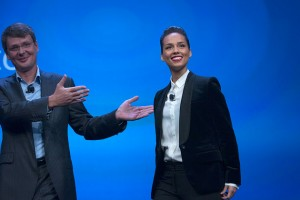 BlackBerry CEO Thorsten Heins introduces Alicia Keys as the company's new Global Creative Director