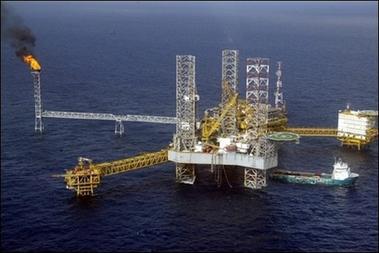A TOTAL NIGERIA OIL PLATFORM
