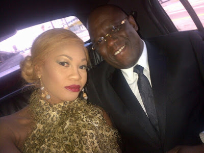GOLDIE & KENNY OGUNGBE AT THE RECENTLY HELD GRAMMY AWARDS ON SUNDAY