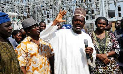 LABARAN MAKU DURING ONE OF THE NGGT's VISIT TO A PROJECT SITE