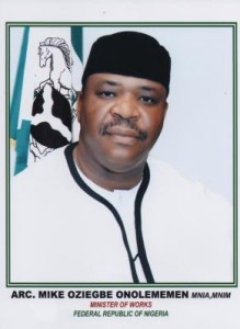 Minister of Works, Arc. Mike Onolememen