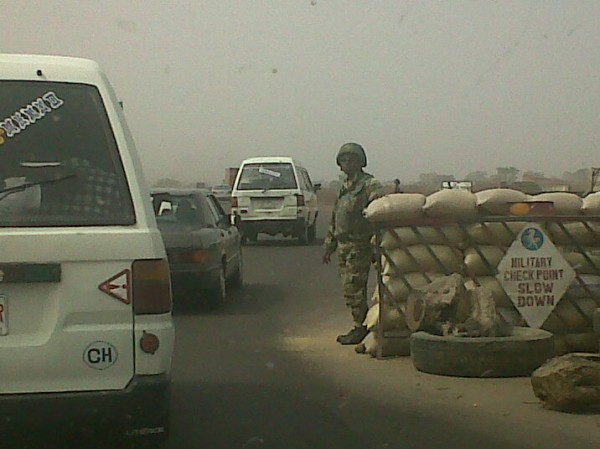 A TYPICAL MILITARY CHECK POINT IN KADUNA