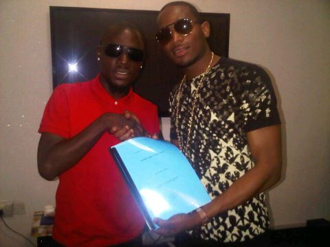 JAY SLEEK & DBANJ AT HIS OFFICIAL SIGNING TO DB RECORDS LAST YEAR