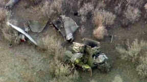 remains of the crashed helicopter