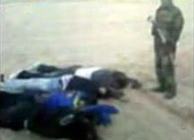 A VIDEO GRAB OF THE MURDERED EXPATRIATES
