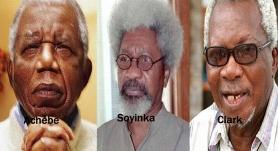 Achebe-Soyinka-and-Clark