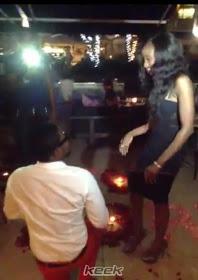 dotun proposes to dbanj's sister