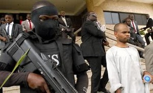 kabiru sokoto exiting the court flanked by DSS operatives