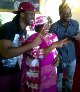 psquare with malawi president