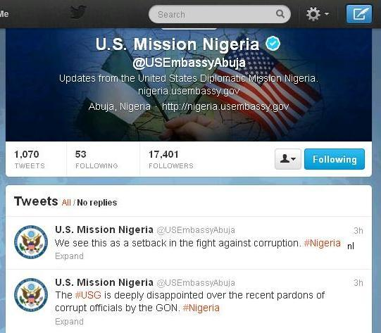 Photo: US Embassy Takes to Twitter to Condemn State Pardon