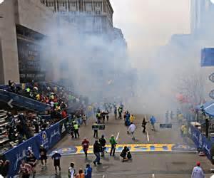 Boston Marathon:An Eyewitness, A Victim, and A War Zone Kinda Image.