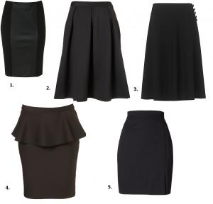 Skirt selection
