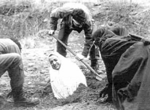 File: woman being buried alive in honour killing