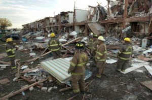 Search For Survivors Continue After Massive Texas Fertiliser Plant Explosion