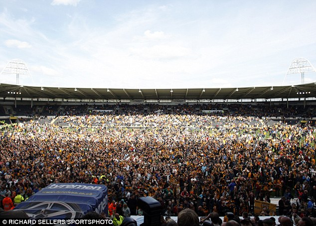 Crowd of Spectators After at the KC Stadium.