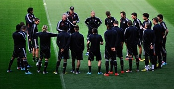 Bayern Munich at a Training Session.