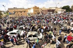 Sunday's blast occured outside Al-Jala hospital in Benghazi
