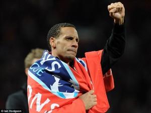 Ferdinand Celebrates His 6th Premier League Title.
