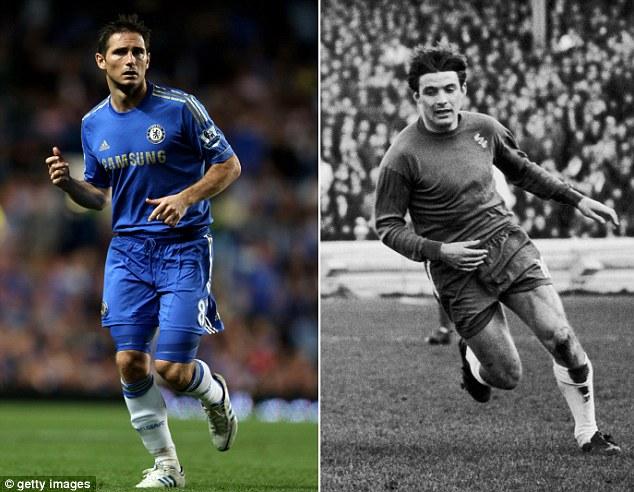 Franck Lampard (L), Bobby Tambling (R)