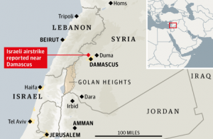 Israel Threatens More Air Strikes Unti Syria Stops Sending Arms To Hezbollah