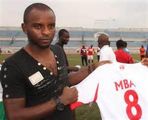 Mba Unveils his Rangers Jersey.