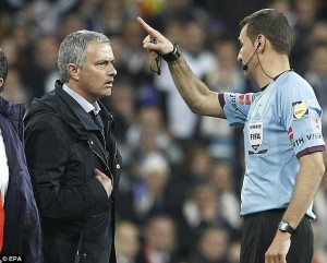 Mourinho Sent Off By a Referee.